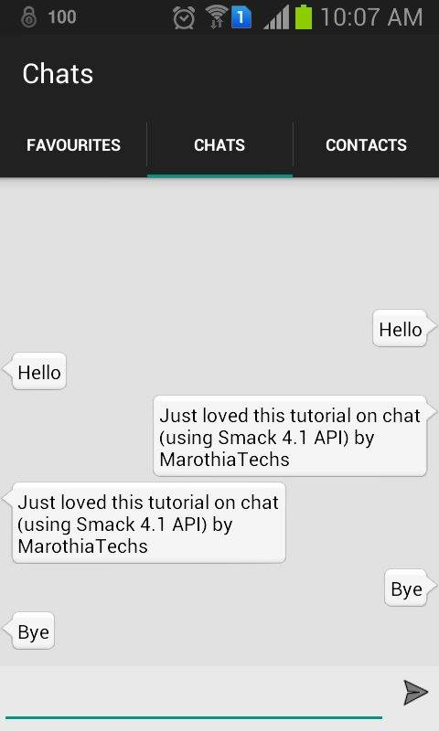 Android Chat tutorial