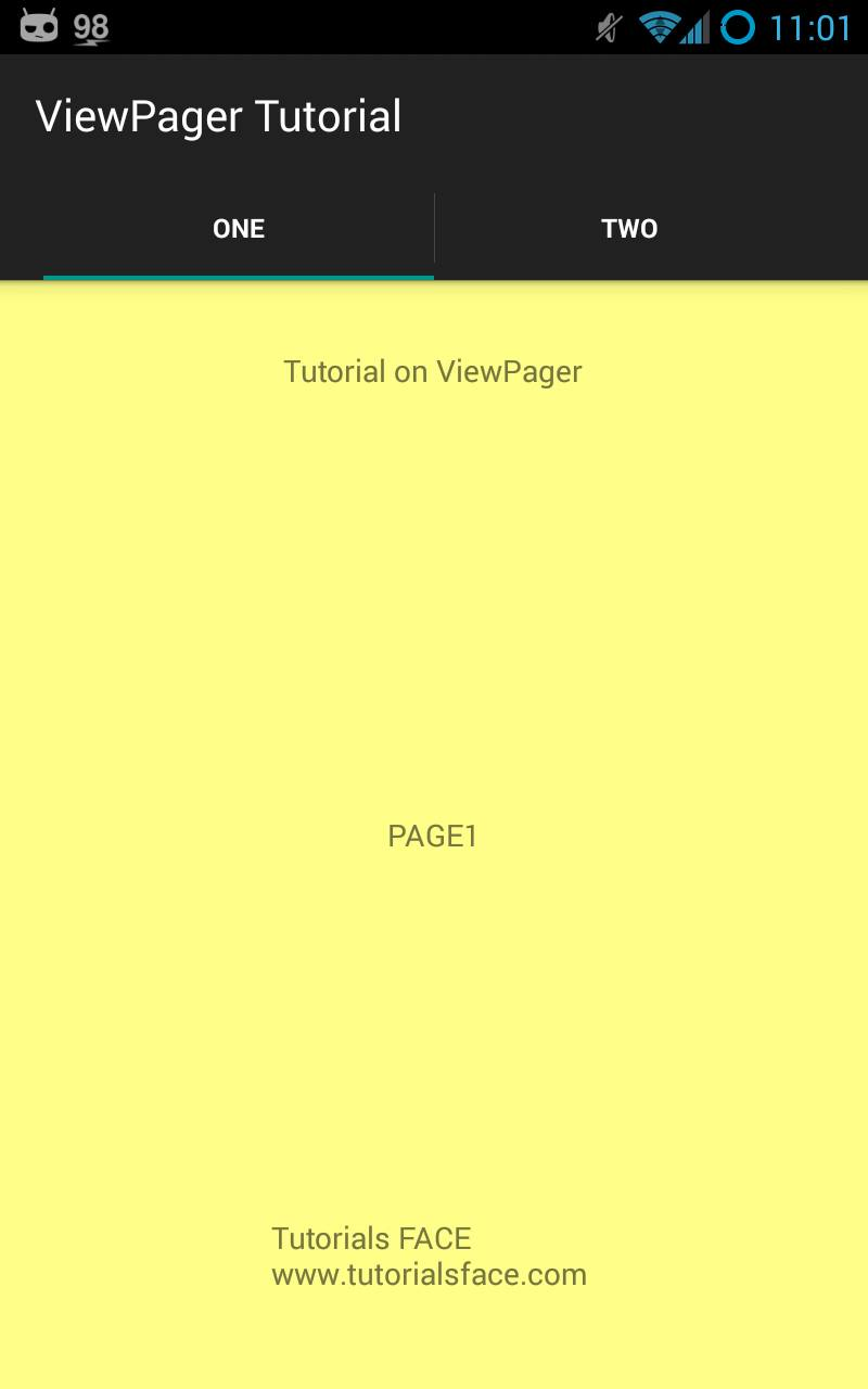 android simple tabs with swipe layout(viewpager) fragments tutorial