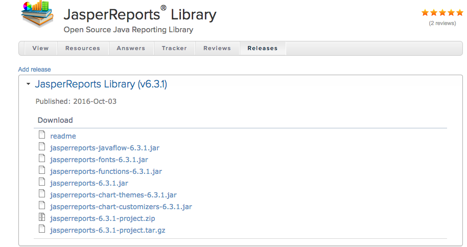 jasper Reports Library for Java download